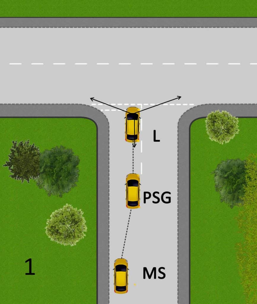 Turning right at junctions