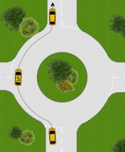 Going Ahead at Roundabouts