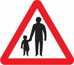 Pedestrians on the road